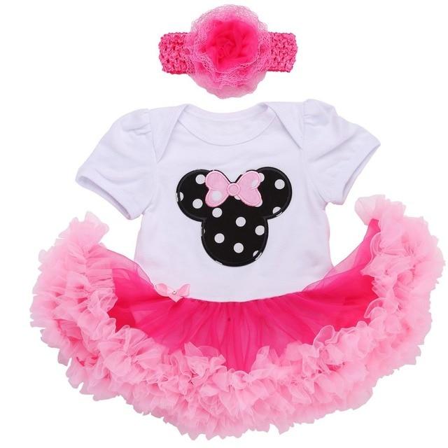 06d7b4ebda8 0 3 meses Primer Cumpleaños niña tutú conjunto ropa recién nacido bebé niña  vestido formal ropa