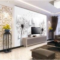 Custom 3D DIY Fabric Textile Wallcoverings For Walls Matt Silk Flower NO Smell For Living Room