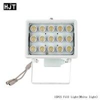 HJT Blanc illuminateur Remplir Lumière 15 PCS Led 20-50 m Distance CCTV Surveillance de Sécurité Snap Route Parking lampe de poche