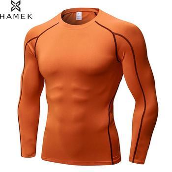 7c59519e7165 Camisetas para hombre Tops ajustado Fit camisa de compresión de secado  rápido ropa deportiva camiseta para correr hombres baloncesto fútbol  camisetas de ...