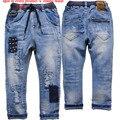 3927 calças jeans macios Crianças meninos de jeans crianças calças primavera outono calça casual calças MENINO de JEANS DA MODA 2016 NOVA