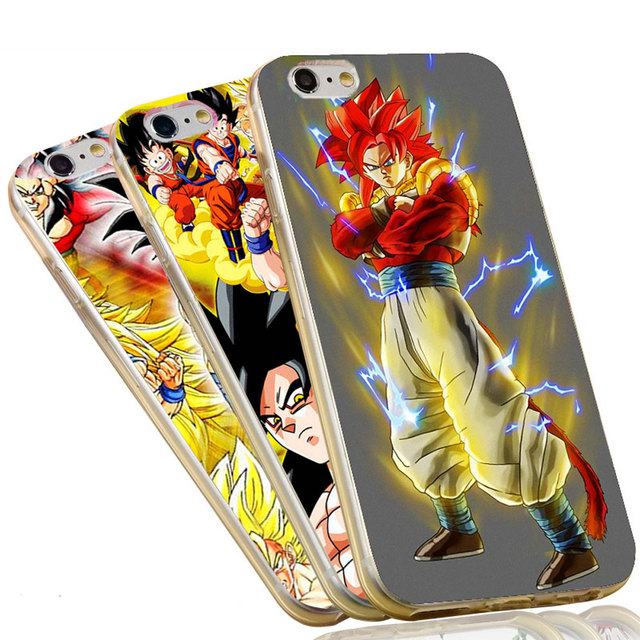 Dragon Ball Z GOKU Transparent TPU Soft Silicone Phone Case Cover for iPhone 6 6S 7 Plus 5S 5 SE 5C 4 4S
