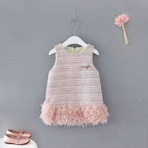 Image 1 - תינוק בגדי ילדים בנות חדש שנה בגדי ילדים שמלות בנות בנות אופנה 2019 חדש חמוד טלאים וסטים שמלת נסיכה