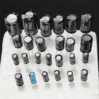 оптовая продажа 1 мкф-2200 мкф 25 в/50 в 25valuesx5pcs всего 125 шт. электролитический конденсаторы ассортимент комплект ассорти комплект