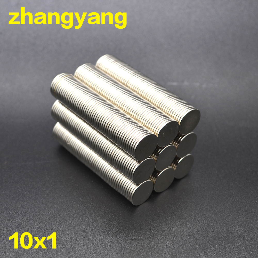 20/50/100/200pcs 10mm X 1 mm Strong Rare Earth NdFeB Magnets Neodymium Magnet 10X1 mm Round Cylinder Permanent Sheet Fridge(China)