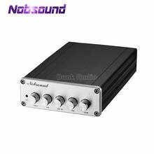 Nobsound Mini HiFi 2.1 kanałowy TPA3116D2 cyfrowy wzmacniacz mocy Hi Fi Stereo Audio wzmacniacz basowy 2*50W Subwoofer