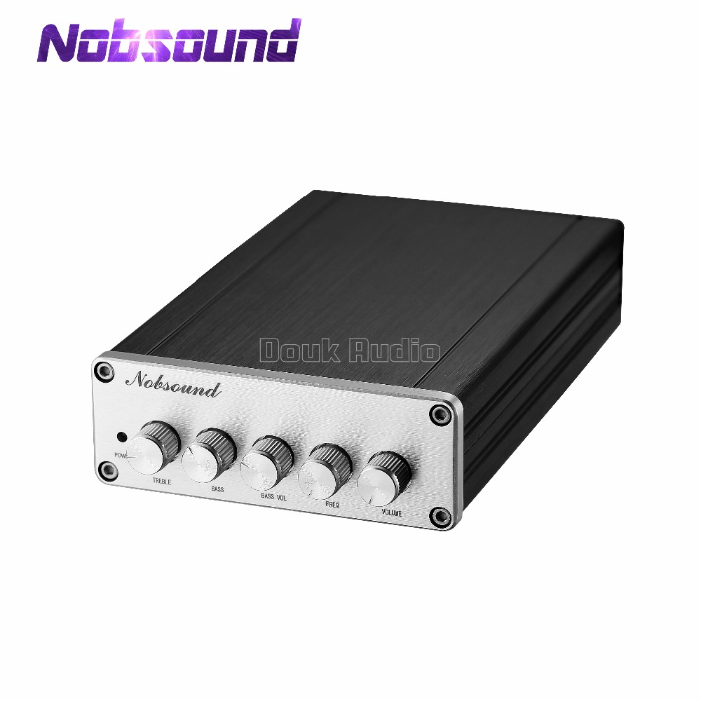 Nobsound Mini HiFi 2.1 canaux TPA3116D2 amplificateur de puissance numérique Hi-Fi stéréo amplificateur de basse Audio 2*50 W Subwoofer