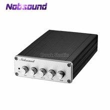 Nobsoundミニhifi 2.1 チャンネルTPA3116D2 デジタルパワーアンプのhi fiステレオオーディオベースアンプ 2*50 ワットサブウーファー