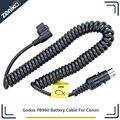 Godox PB960 PB820 batería conector PROPAC Cable de alimentación CX para Canon 600EX 580EX II 550EX 540EZ YN568 YN565 YN600exRT
