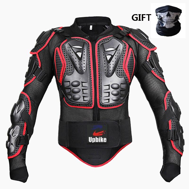 Upbiker オートバイ鎧保護ジャケットボディ保護モトクロス膝肘バック保護パッドドロップ耐性の衣類  グループ上の 自動車 &バイク からの ジャケット の中 1