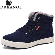 New arrival big size 39-45 men boots fashion flat winter snow boots thick plush ankle boots for men warm casual shoes botas