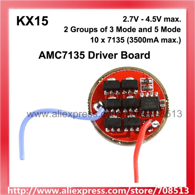 KX15 7135 12x/10x AMC7135 1-Celda 2-grupos de 3-5 modos de circuito de controlador de luz placa (1 Unidad) Sofirn nuevo SD05 Buceo linterna LED LUZ DE BUCEO Cree xhp50,2 lámpara Super brillante 2550lm 21700 con interruptor magnético 3 modos