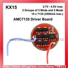 Circuit imprimé KX15 7135 12x / 10x AMC7135, 1 cellule, 2 groupes de 3-5 Modes, pilote droit (1 pièce)