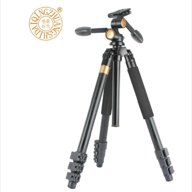 QZSD Q620 Professional DSLR Tripod For SLR Camera / Portable Traveling PanoramicTripod + Head / Monopod Changeable by DHL free shipping qzsd q472 slr camera tripod monopod