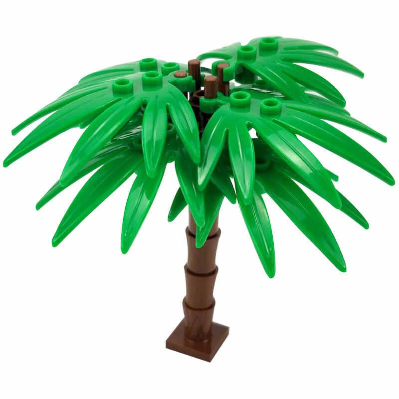 Legoing مدينة الأخضر بوش زهرة العشب شجرة النباتات يترك لوتس ورقة الخالق التبعي كتل زارة التجارة لعب للأصدقاء Legoings المدن