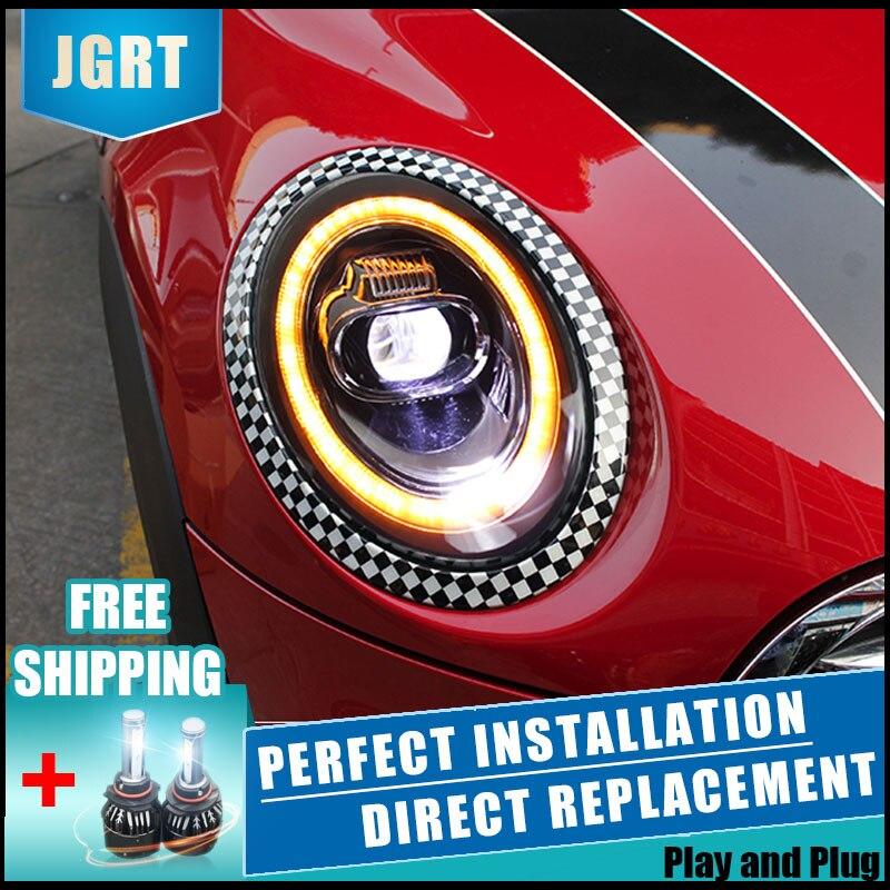 2 uds. Faros LED para BMW MINI 2014-2019 luces Led para coche lentes de xenón dobles accesorios para coche luces de circulación diurna luz antiniebla
