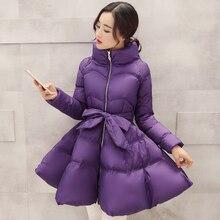 2017 Zipper Limited New Ukraine Winter Coat Women Long Coats Tie Female Cloak Cotton Ladies & Parkas Womens Jackets Wholesale
