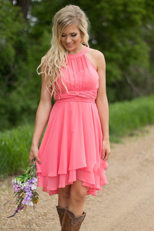 Magnífico Coral Beach Bridesmaid Dresses Ideas - Colección de ...