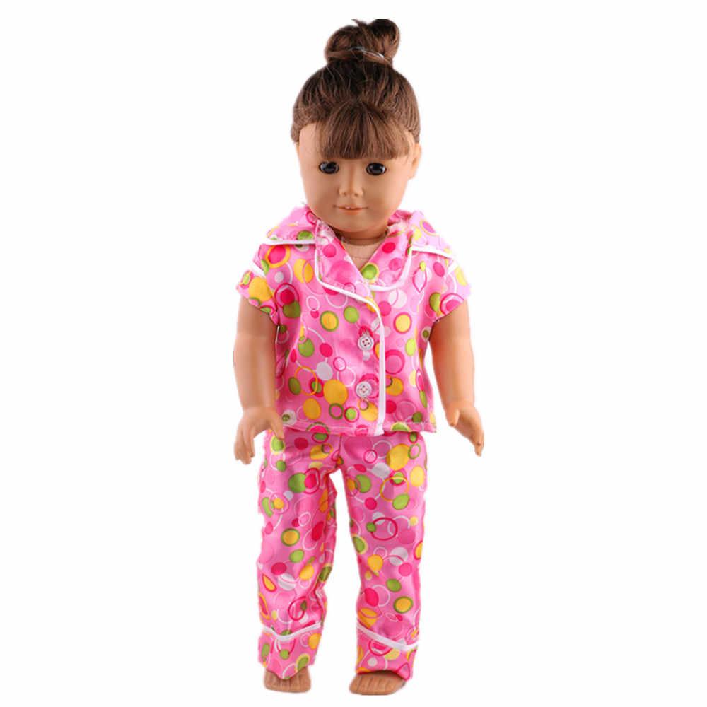 Fleta Moda Güzel ipek pijama fit 18 inç amerikan oyuncak bebek aksesuarları bebek en iyi hediye b761