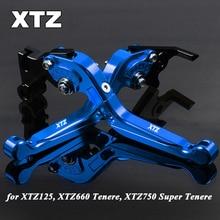 цены Foldable Extendable CNC Motorbike Motorcycle Brake Clutch Levers For Yamaha XTZ125 XTZ660 XTZ750 Super Tenere XTZ 125 660 750
