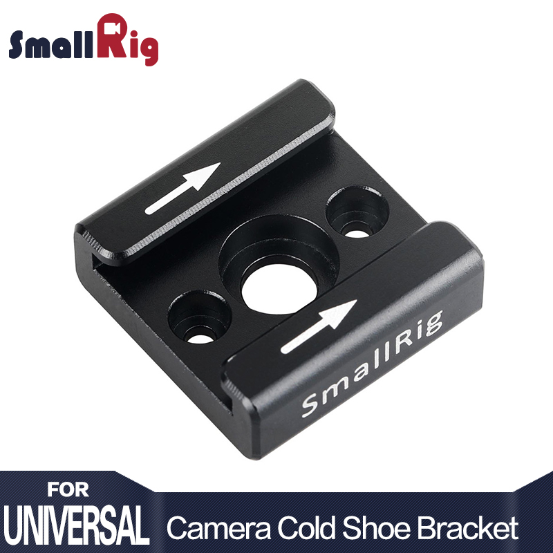 SmallRig Cold Shoe Adapter Standard Shoe Type 1/4 Screw Hole For Camera Light Microphone Monitor Attach - 1241 (New Version)