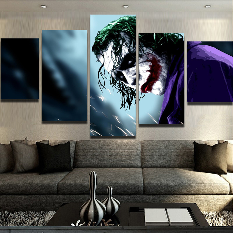 Buy 5 Panels Canvas Prints Why So Serious