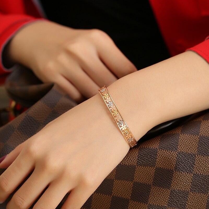 18 K Puur goud armband real AU 750 solid gold Bangle goede mooie mooie upscale trendy party fine jewelry hot verkoop nieuwe 2018-in Armbanden & Armring van Sieraden & accessoires op  Groep 2