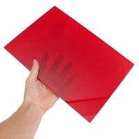 A4 210x297 мм красный резки резьба 3 мм акриловый лист DIY Модель пластиковые лист оргстекла пластины для окна замены части игрушки