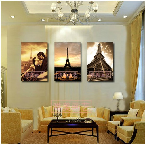 3 Piece Wall Art No Framed Modern Oil Painting On Canvas city impression Orient Colorful Prints