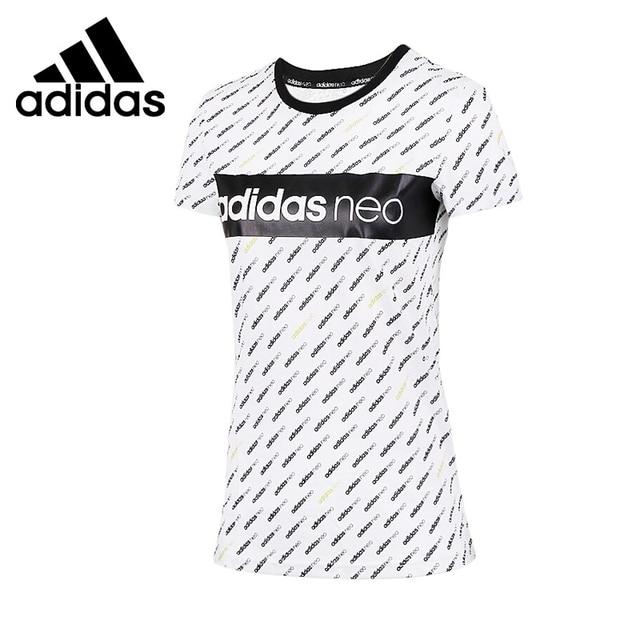 new style 8b594 0bbe8 Originale Nuovo Arrivo 2017 Adidas NEO Label LOGO T-Shirt da Donna manica  corta Abbigliamento
