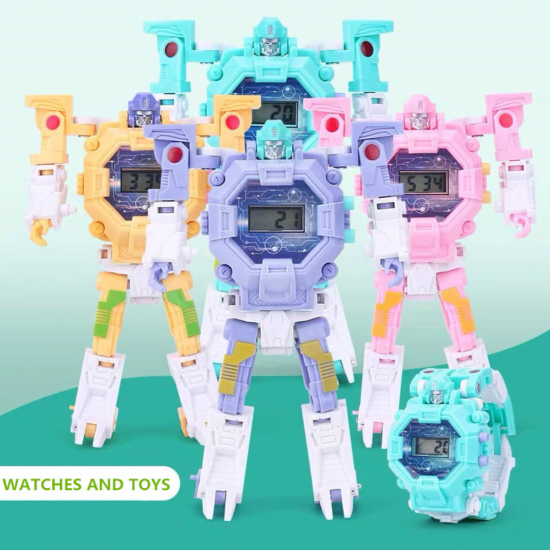 Transformers Toys Kind Watches Cartoon Pattern Digital Child Watch For Boys Girls LED Display Clock Relogio Infantil Gifts