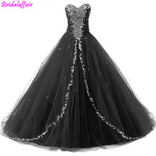 Sweetheart Long Black Evening Dresses Formal Prom Ball Gown Elegant mezuniyet elbiseleri 2019