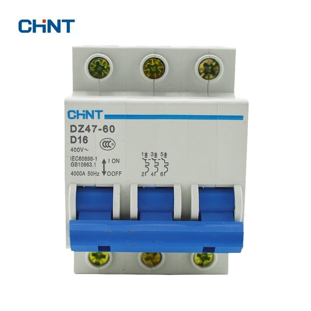 CHINT 3P 16A Miniature Circuit Breaker MCB DZ47 60 3P D16 Air Switch on