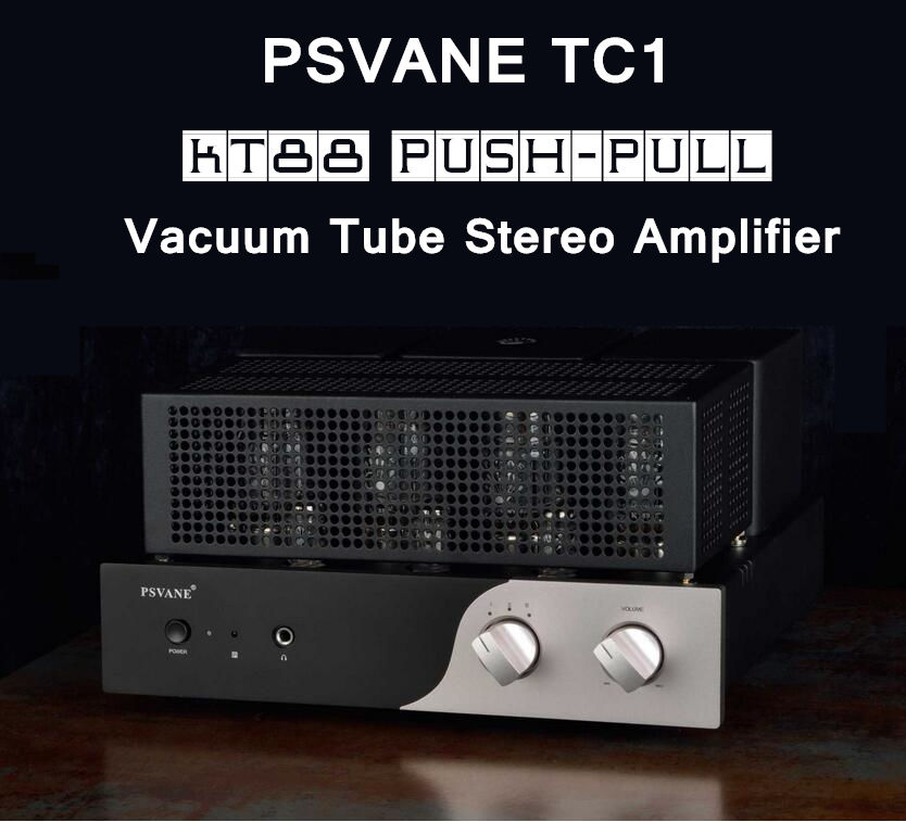 Douk Audio Latest PSVANE TC1 KT88 Push-pull Vacuum Tube Integrated Amplifier Stereo HiFi Power Amp  music hall latest muzishare x7 push pull stereo kt88 valve tube integrated amplifier phono preamp 45w 2 power amp