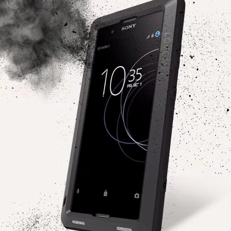 Para Sony Xperia caso XA1 Plus XA1Plus LOVEMEI Extrema Vida Poderosa Metal Alumínio Case Capa Heavy Duty Armadura Robô À Prova de Choque Shell
