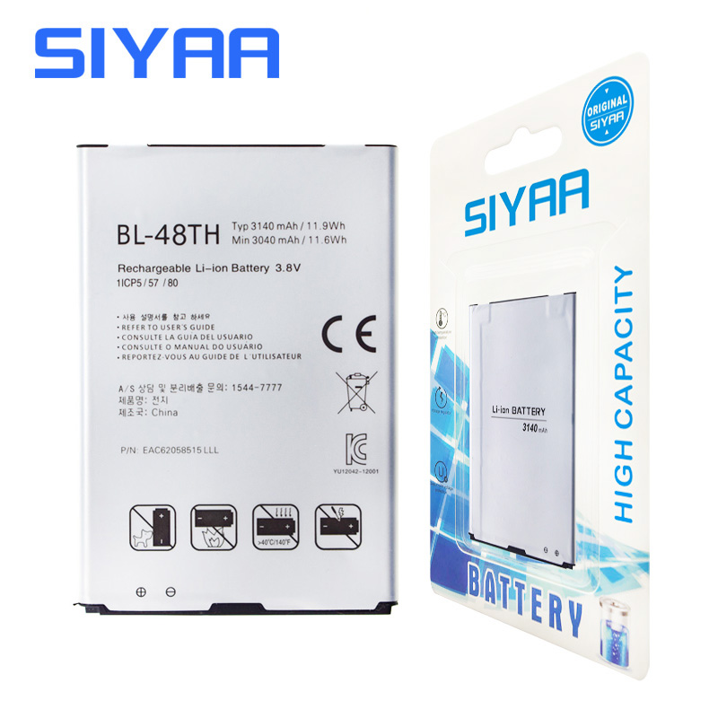 Original SIYAA BL-48TH Battery For LG Optimus E977 E940 E980 E985 E986 E988 F240 F240K F240S BL48TH BL 48TH Replacement Battery