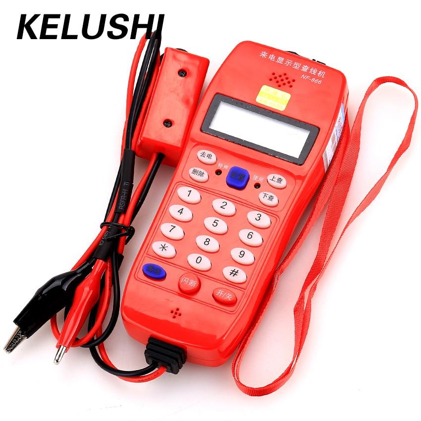 KELUSHI Hohe Qualität NF-866 Telefon Telefon Telekommunikation fiber optical tool Überprüfen Telefon DTMF Anrufer ID Auto Erkennung
