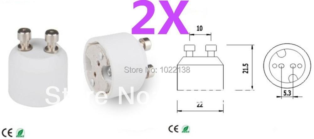 Halogène Ampoule LED 2x GU10 en céramique Sockets lampe titulaire Down Luminaire de base