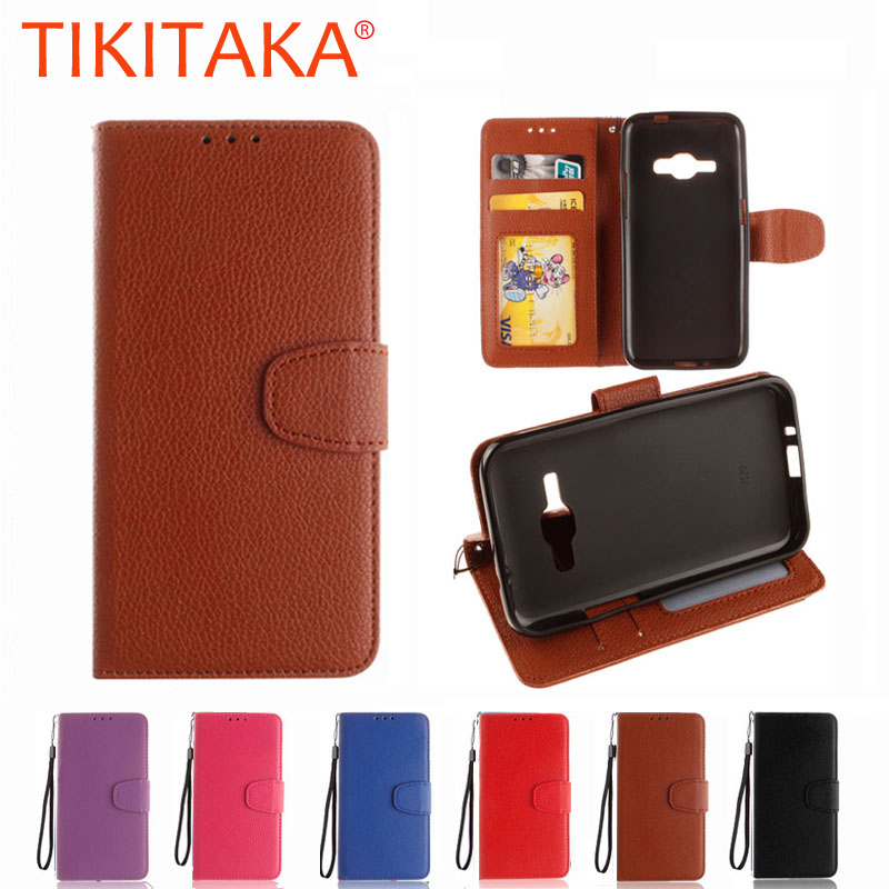 For Coque Samsung Galaxy J1 2016 Cover Capa Retro Luxury Leather Flip Case For Samsung Galaxy J1 J 1 6 J1 Mini Case Card Holder