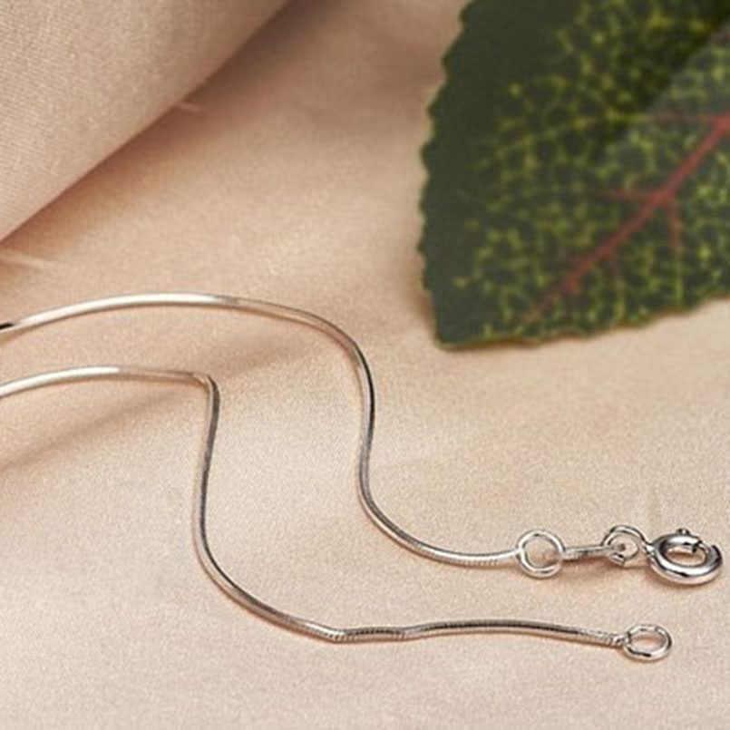 SUSENSTONE, moda para hombre, venta de joyería de plata, collar de cadena de serpiente, 16-22 pulgadas