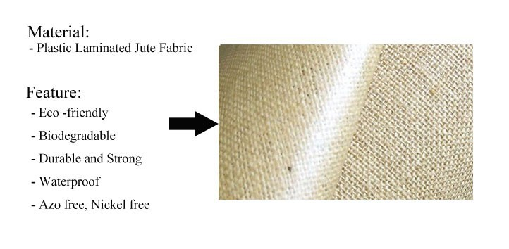 Plastic Laminated Jute Fabric