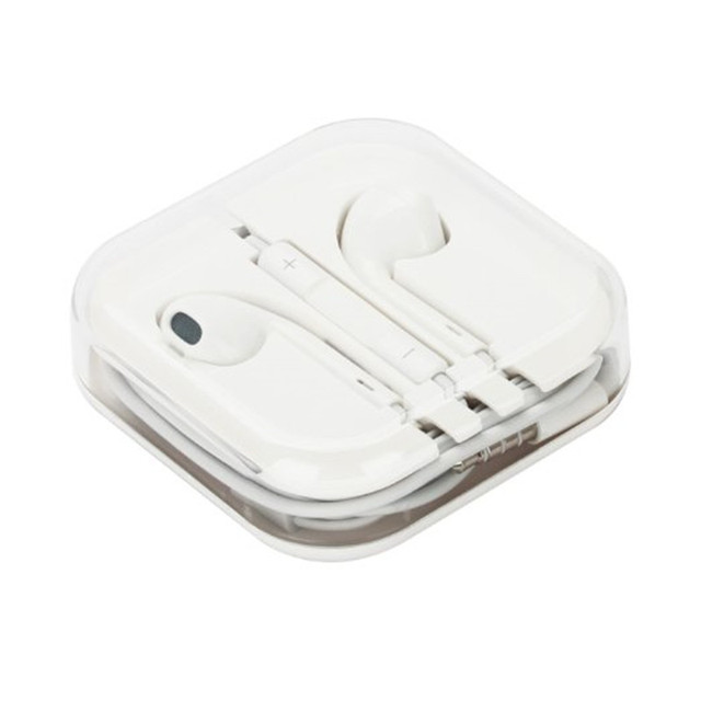 100% original a estrenar blanco 3.5mm earpods auricular para apple iphone 5/5s/6/6 s plus ipad/ipod auriculares con micrófono