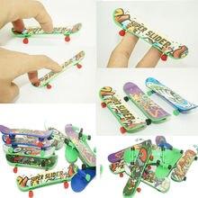10 pçs/lote mini plástico tecnologia deck brinquedo skate dedo placa skates crianças brinquedo presente
