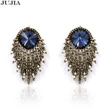 2016 fashion HOT women stud earrings shourouk earring bubble crystal vintage korean Earrings for women jewelry wholesale E3302
