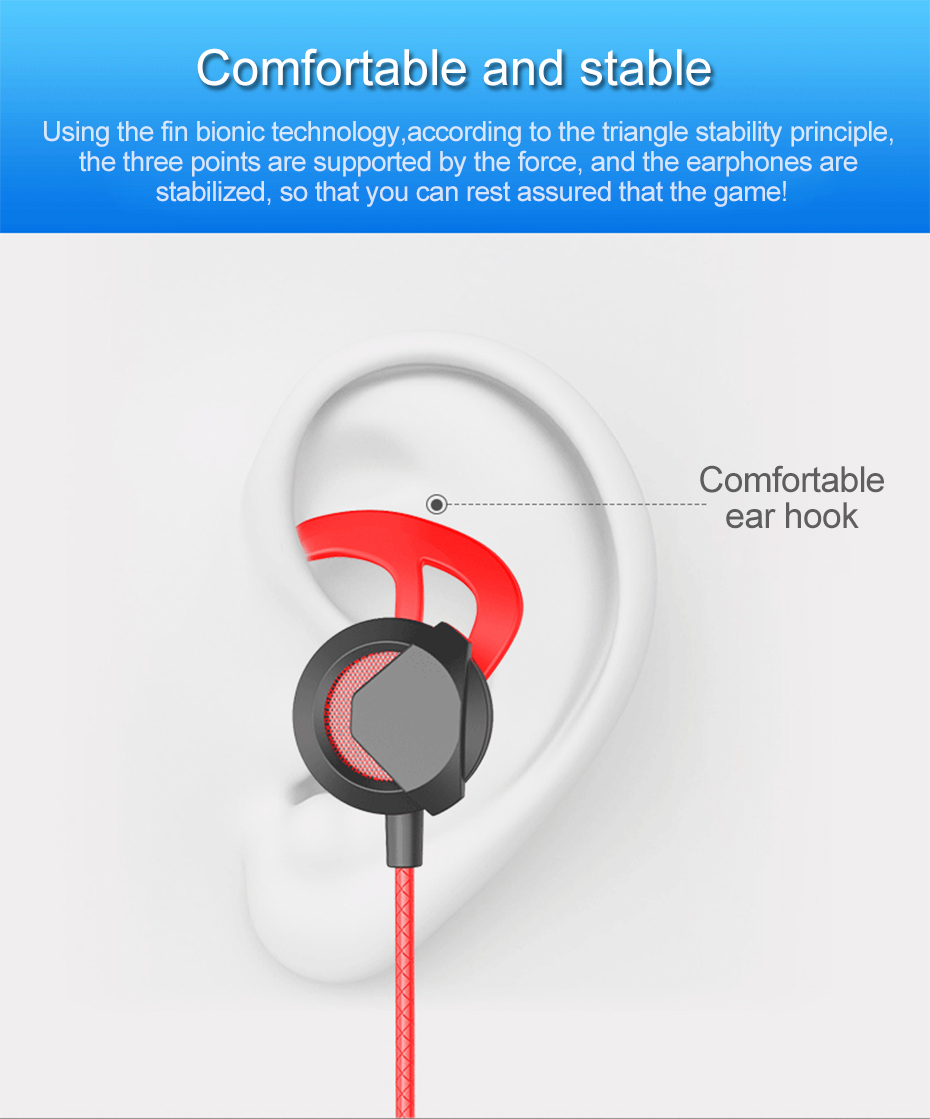 Wired Earphone With Micphone For Computer Mobile Phone Games Wired Headset Hifi Earphone In-ear Earphone Wired Gaming Headset   (11)