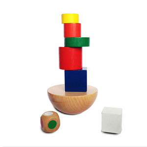 LAIMALA Wooden Geometric Kids Montessori Children Game