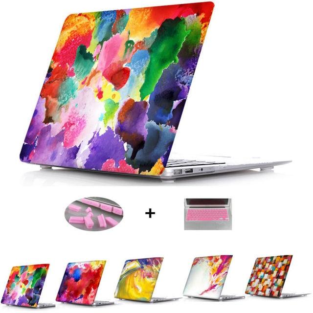 Абстрактные Картины Маслом Crystal Clear Чехол Для Ноутбука Для Macbook Air 11 13 12 Крышка Pro 13 15 Retina Display Для Ноутбука Рукава