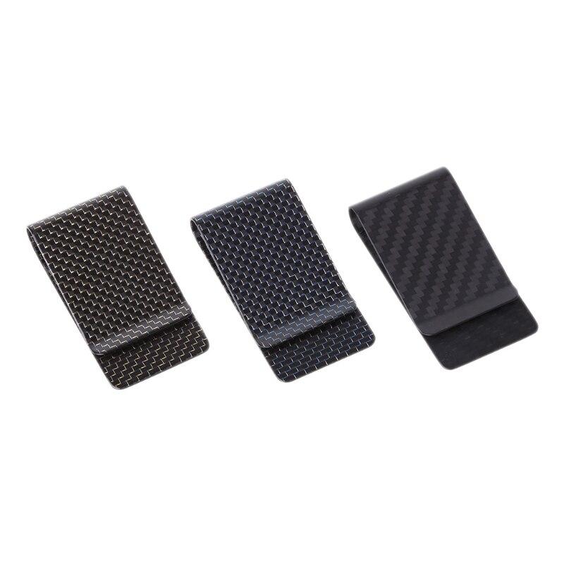 1 Pc Mode Schlank Money Clip Wallet Neue Carbon Faser Für Frauen Männer Geld Clip