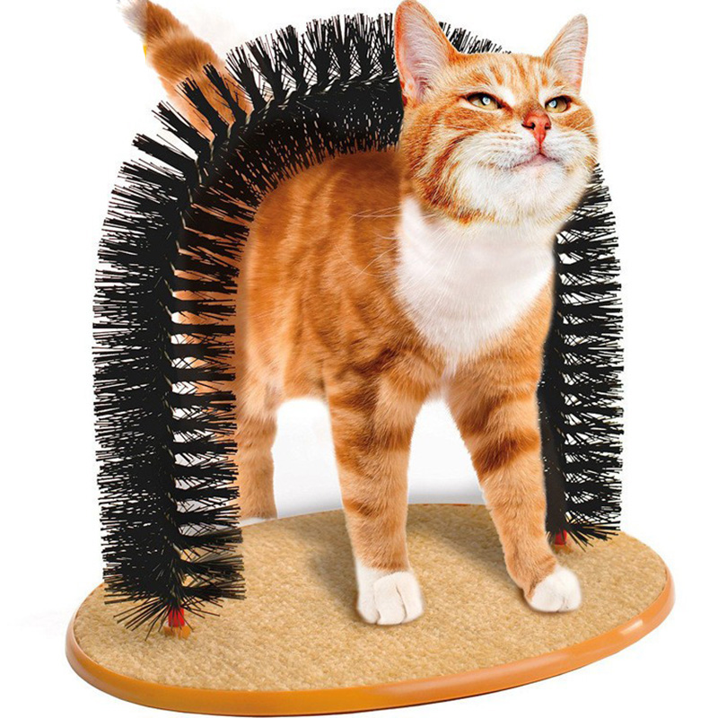 Traumdeutung Arch Cats Scratcher Tunnel Toy Self-groomer Massager Pet Supplies For Cat Accessories jouet pour chat kedi tunel