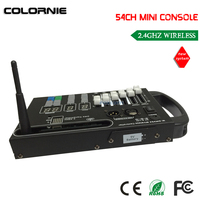 DHL Free Shipping Hot Sale 54CH Wireless Dmx Console With 9V Battery Powered To Control Led